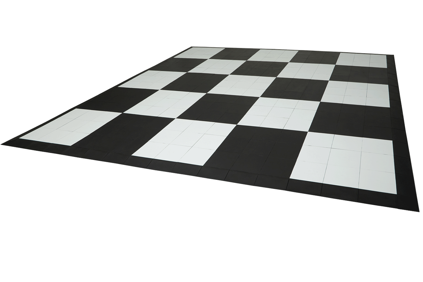 EverBlock Flooring tiles in a checkerboard pattern