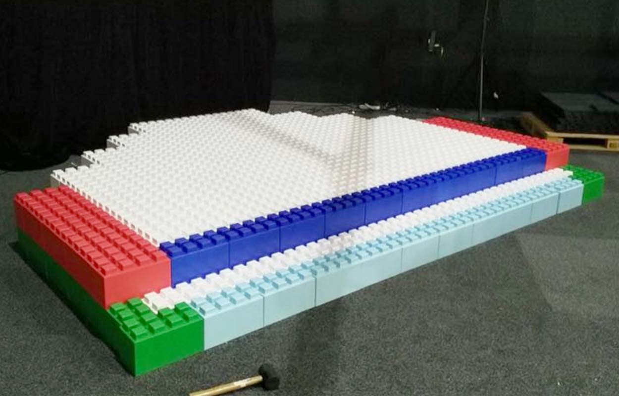 Create colorful stages and risers