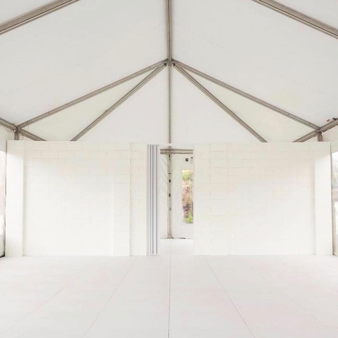 EverPanels and EverFlooring in a tent