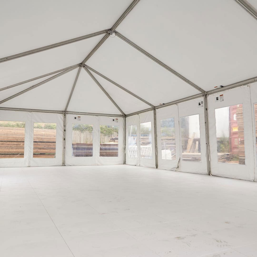 EverFlooring in a tent