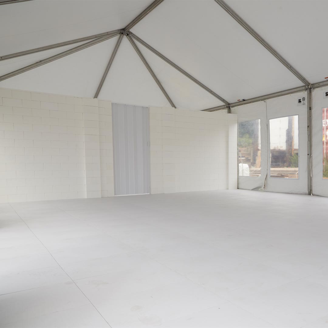 EverFlooring and EverPanels in a tent