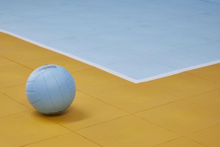 Volleyball court using EverBlock Flooring tiles
