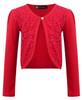 Girls Lace Front Bolero Shrug in Red