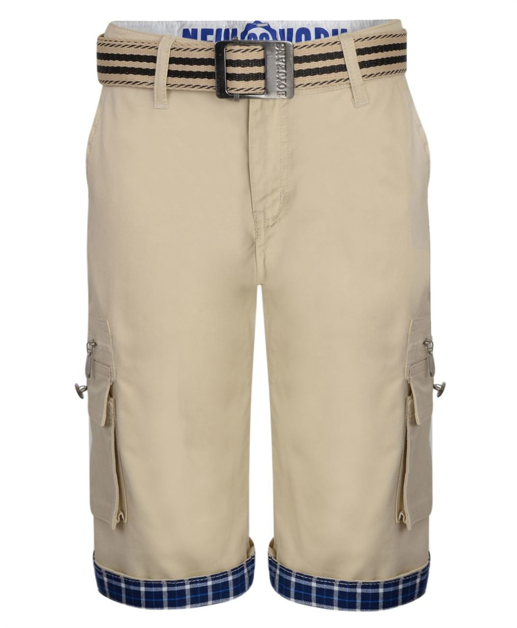 1dd050726a58 Kids Belted Cotton Chino Shorts in Various Colors.