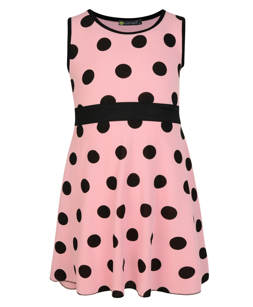 a93bc9d33a5d Girls All Polka Dot Dress in Cerise, Peach, Red and Coral