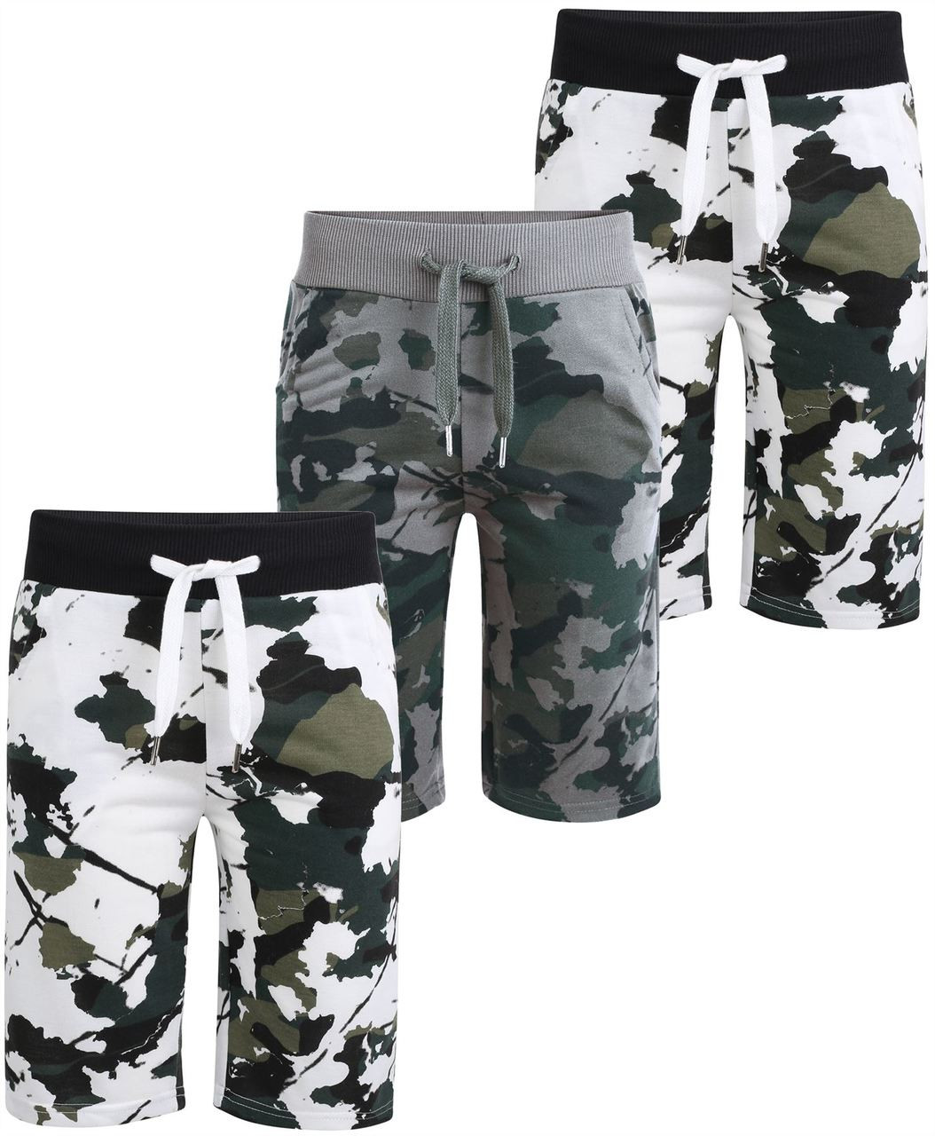 563763fbdd LotMart Kids Jersey Camo Shorts Bundle with Multipocket Camo Shorts Pack of  2 Colours Sports & Outdoors Athleisure