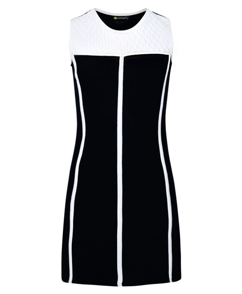 Girls Piping and Diamante Details Dress in Black, White, Red and Peach