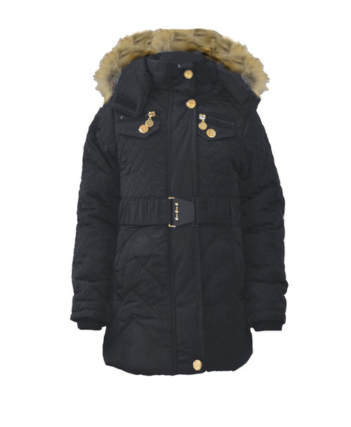 280e3db82 Girls Winter Coat with Bird Applique in 7-16 Years.
