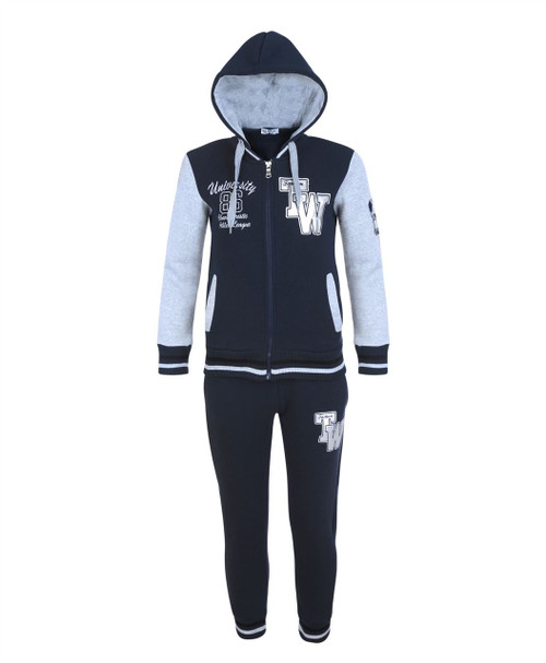 Kids Tracksuit University TW in Black, Navy and Grey Marl