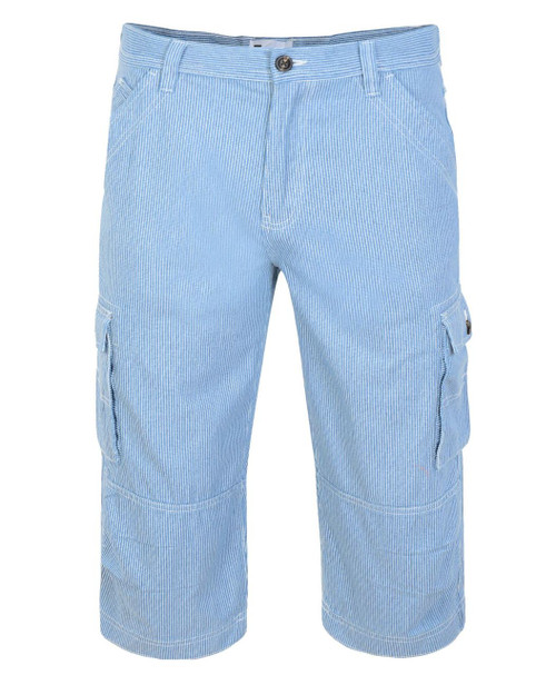 Mens Cargo Shorts in Beige, and Light Blue