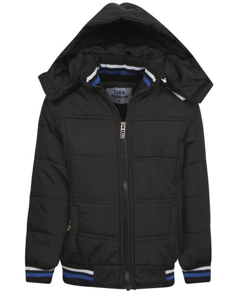 Boys Padded Jacket in Black