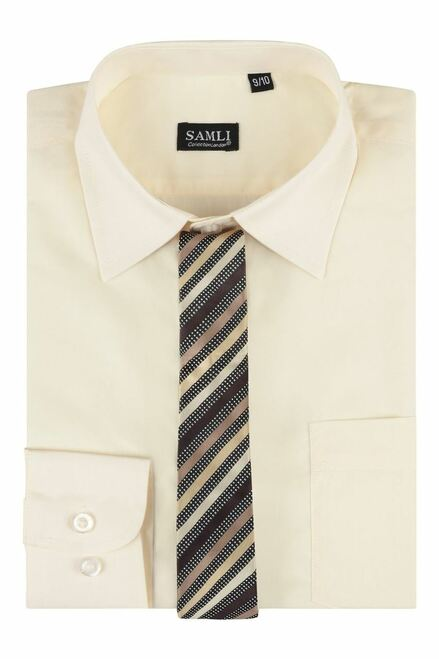 Boxed Shirt And Tie Set Samli in Aqua, Cream and Glacier