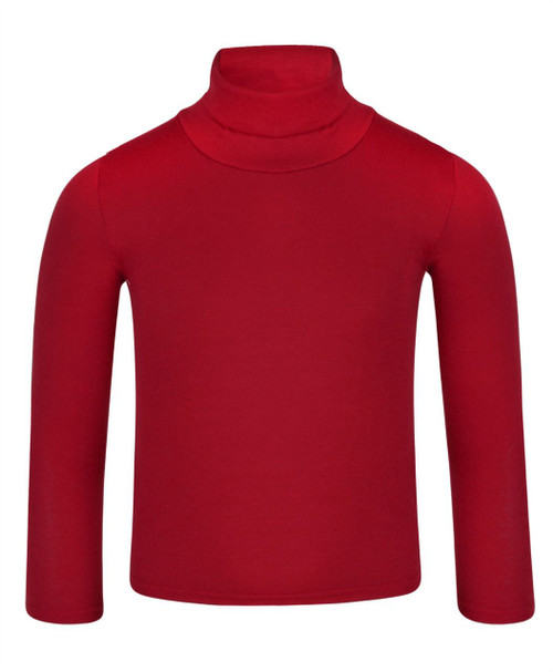 Kids Basic Turtleneck Top in Black, White and Red