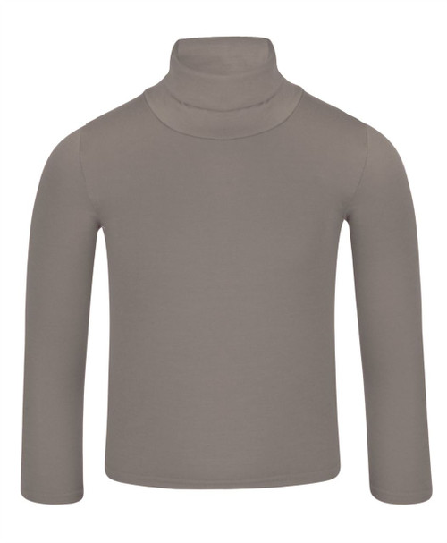 Kids Basic Turtleneck Top in Mocha, Brown and Green