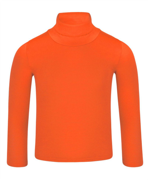 Kids Basic Turtleneck Top in Navy, Orange and Neon Yellow