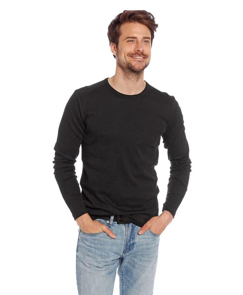 Mens 2 Pack Cotton Basic Top in Black and White