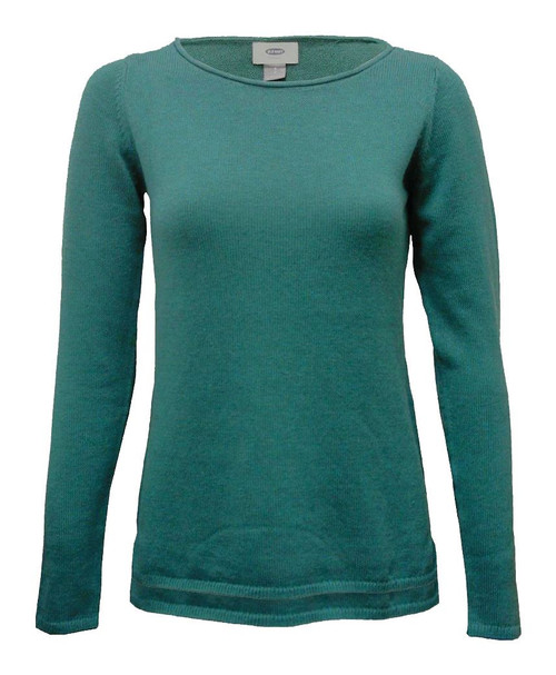Women Plain Knitted Sweater in Teal, Dusty Pink and Violet-Blue