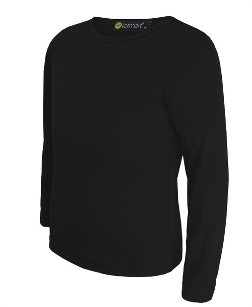 Kids Plain Basic Tee Slim Fit in Black, White and Red