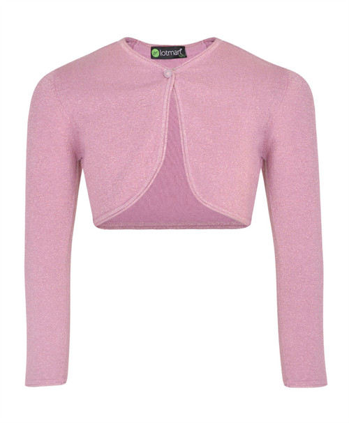 Girls Lurex Glitter Effect Cardigan in Silver, Pink and Lilac