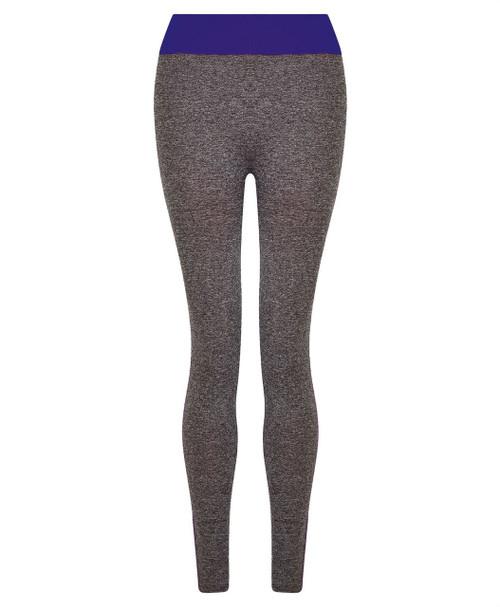Ladies Full Length Leggings in Black and Blue