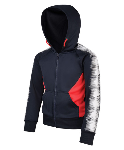 LOTMART Kids 2 Piece Soundwave Print Detail Tracksuit Soft Material in Black 5-6 Years