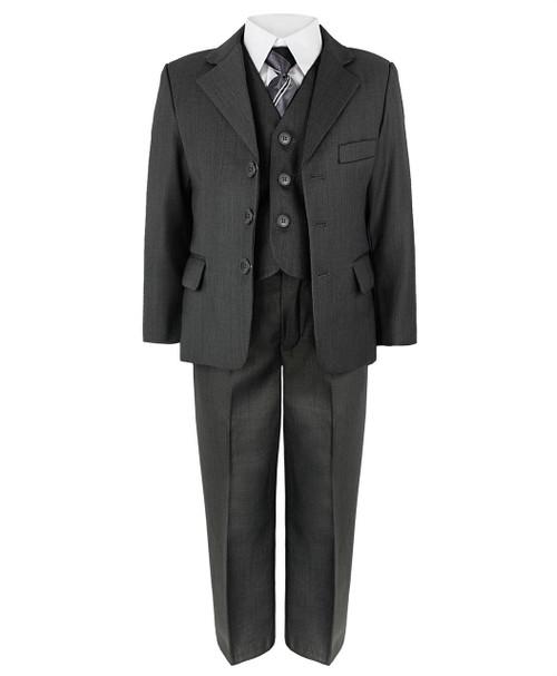Boys 5 Piece Suit in Grey