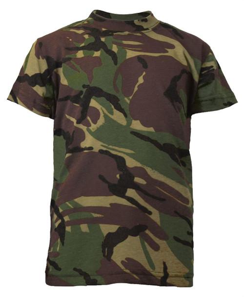 Boys Kombat Army T-shirt in British DPM Camo