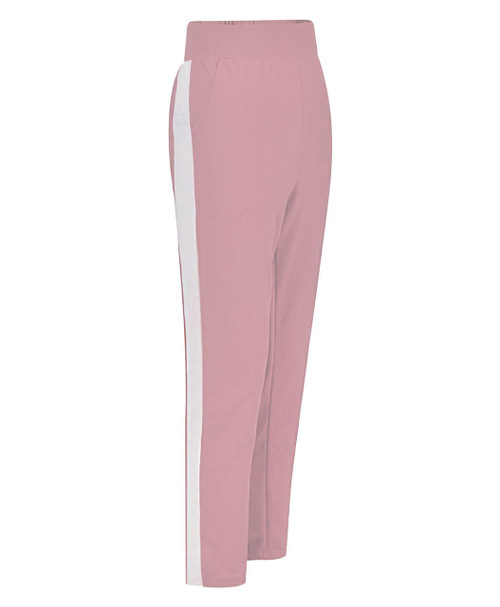 Women Pencil Loose Sweatpants in Peach and Grey