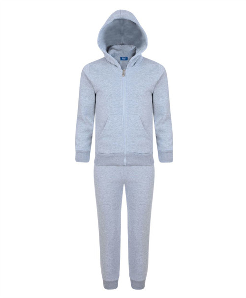 Kids Plain 2-Piece Tracksuit Black Charcoal Grey Marl Navy