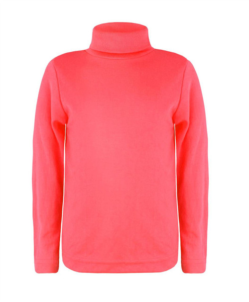Kids Turtleneck Basic Top in Neon Orange, Neon Pink and Neon Coral