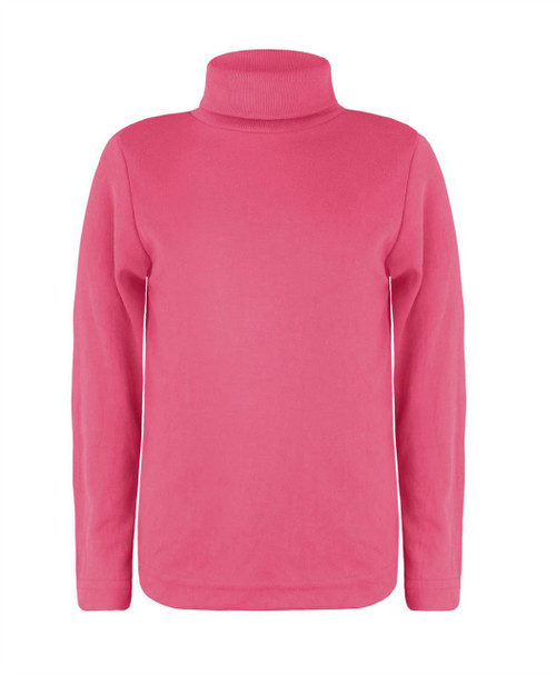 Kids Turtleneck Basic Top in Rose, Fuschia and Mulberry