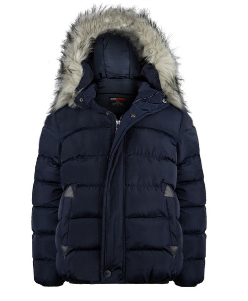 Boys Winter Padded Jacket in Black, Charcoal and Navy