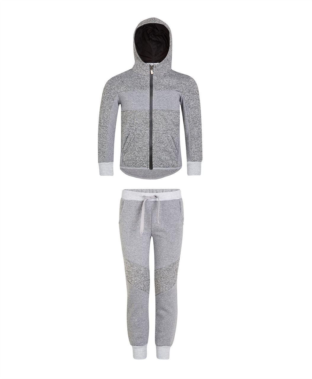 Pandapang Women Contrast Color Jacket Hooded Sportwear 2PCS Tracksuit Set