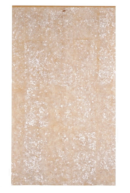"""Crushed White Mother of Pearl Sheet 9 3/8 x 5 1/2 x 1/4"""""""