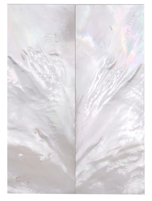 """White Mother of Pearl """"Bright"""" Pair 3 1/2 x 1 1/4 x .132 #37"""