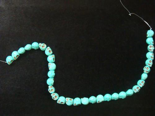 Turquoise Skull-Strand-13mm x 10.4mm