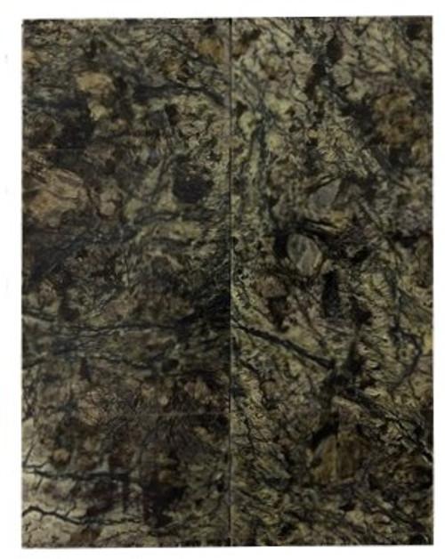 Dark Serpentine Stone Pairs 2 3/16 x 13/16 x .115 #3