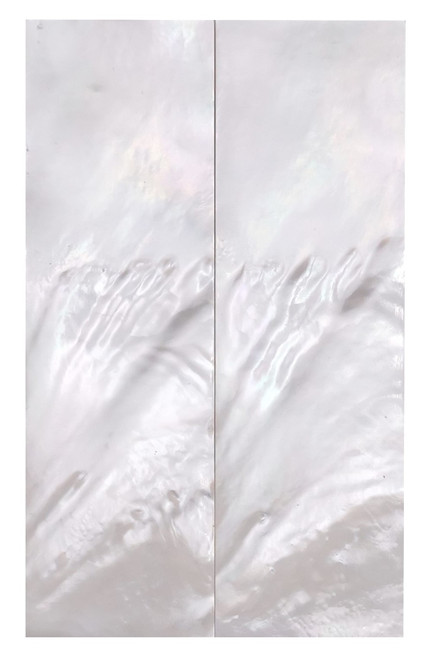 """White Mother of Pearl """"Bright"""" Pair Grade B 4 1/8 x 1 1/4 x .135 #17"""