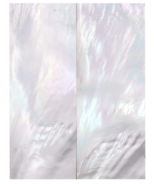 """White Mother of Pearl """"Bright"""" Pair 3 1/4 x 1 1/4 x .125 Grade B #87"""