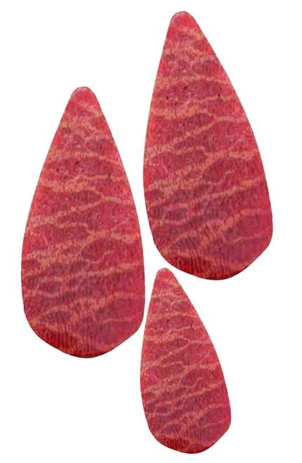 Apple Coral Pre-Cut Inlays-Teardrop-1 3/8 x 5/8 x .080 +/-