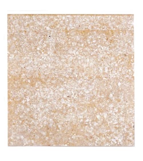 Crushed White MOP Laminate Piece -5 1/2 x 5 3/8 x .125