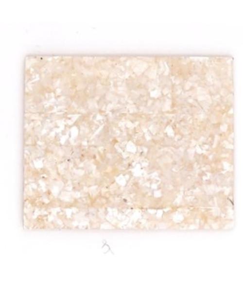 Crushed White MOP Laminate Piece -2 1/4 x 1 3/16 x .125