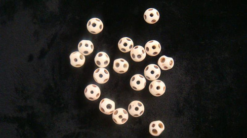 Bone Round w/Holes-Strand-12.1mm x 9.7mm
