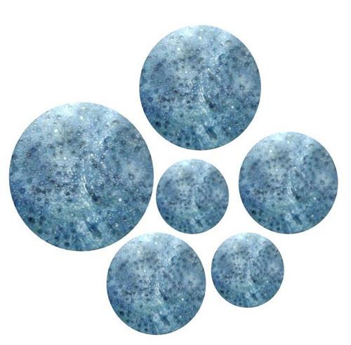 Blue Coral Pre-Cut Inlays Circle
