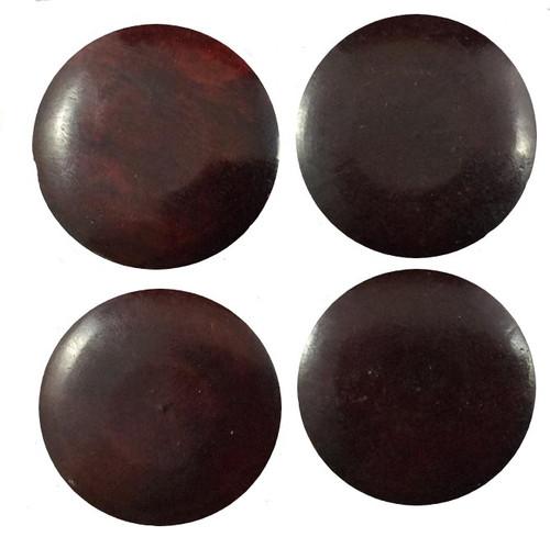 Smooth Amber Bone-Radius Top Circle-1 1/8 x 1/8