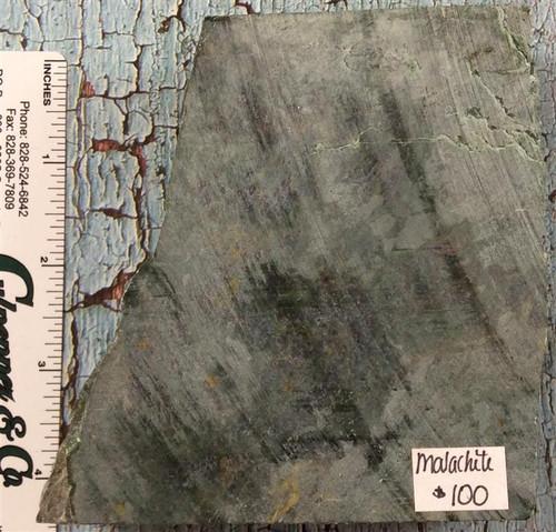 Malachite Piece-4 1/4 x 3 3/4 x 1 1/4 #24