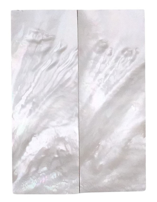 """White Mother of Pearl """"Bright"""" Pair Grade B 3 1/2 x 1 1/4 x .170 #18"""