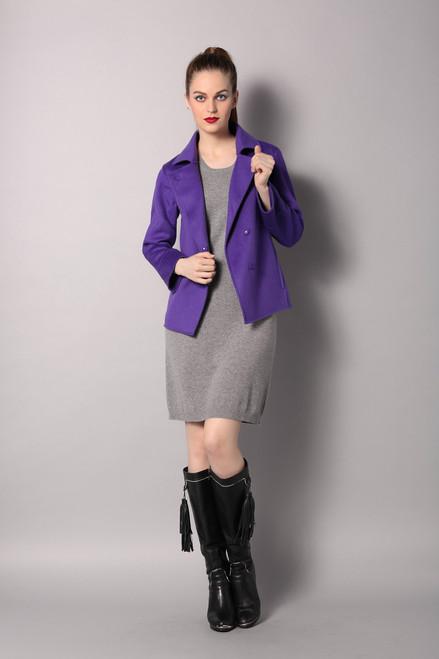 Double Face Purple Wool Blazer