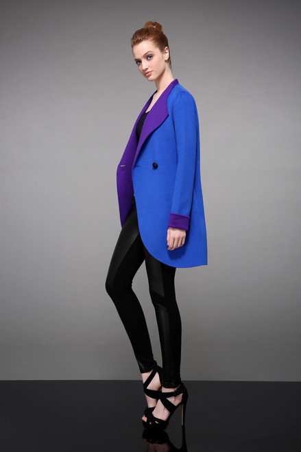 Royal  Blue/Purple Double Faced Cashmere Wool Blazer