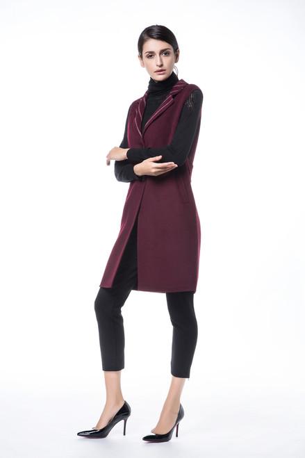 Wine Striped Wool Vest